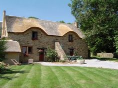 Delightful 17C Stone Breton Cottage, Private Pool. Pretty Garden with furniture and BBQ.  Stroll through the garden to the Private Pool Terrace with heated pool. #Brittany #property #cottage #Breton #stone #traditional garden #pool #rural #activities