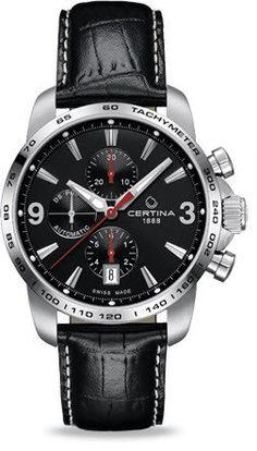Certina Watch DS Podium Chrono Automatic #bezel-fixed #bracelet-strap-leather…