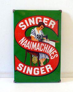 Emaille reclameborden - Singer Naaimachines
