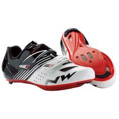 Zapatillas de carretera para niño Northwave - Torpedo Junior - 37 White/Black/Red   Zapatillas para bicicletas de carretera