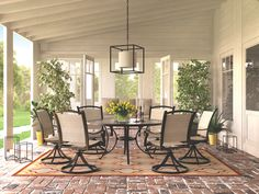 Burnella 7 Piece Outdoor Dining Set by Signature Design by Ashley at Wayside Furniture Large Round Dining Table, Outdoor Dining Set, Patio Dining, Outdoor Rooms, Outdoor Living, Outdoor Decor, Dining Tables, Dining Room Furniture, Outdoor Furniture Sets