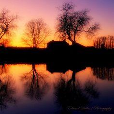 "SUNSET ON THE RIVER.  ""http://edwarddullard.phanfare.com/""."