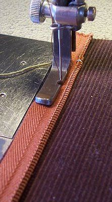 Tips for sewing on a zipper.  I have yet to be brave enough to attempt a project that includes a zipper.