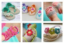 Crochet Baby Flip Flop Sandals with Patterns