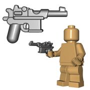 This custom LEGO® gun is the standard issue pistol for your German WW1 and WW2 Minifigure armies, and also your Soviet Minifigure armies in WW2.