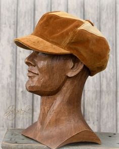 70's Style Patchwork Newsboy Hat in Copper by GreenTrunkDesigns