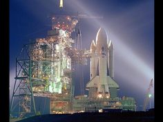 A timed exposure of the first lift off of  #nasa Space Shuttle, STS-1, (at Launch Pad)