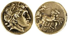 adigh Gallery's Ancient Greek Gold Coin of Phillip II  Gold Stater of Philip II of Macedon, father of Alexander the Great. Macedonian, 356-336 BC