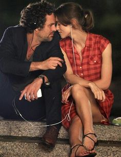 I love the idea of a date walking through the city listening to each other's playlists. #BeginAgain