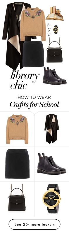 """""""Library Chic"""" by menoly on Polyvore featuring Roland Mouret, Dolce&Gabbana, Joseph, Fendi, Yves Saint Laurent, Miu Miu, Gucci and librarychic"""