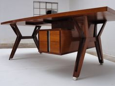 Ico Parisi ''TERNI'' executive desk, 1958, published | From a unique collection of antique and modern desks and writing tables at http://www.1stdibs.com/furniture/tables/desks-writing-tables/