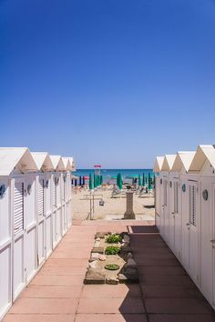 Beach Houses in Senigallia, Marche Region, Italy