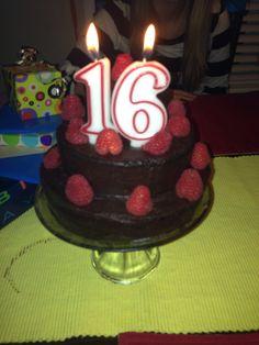 Mini 2 tier 16th birthday cake