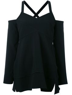 ¡Cómpralo ya!. Proenza Schouler - Cold Shoulder Top - Women - Acetate/Viscose - 2. Effortless and chic, this Proenza Schouler black cold shoulder top is an obvious choice for your wardrobe. Elegant and comfortable, it features a v-neck, cut out details, long sleeves and a straight hem. Size: 2. Gender: Female. Material: Acetate/Viscose. , tophombrosdescubiertos, sinhombros, offshoulders, offtheshoulder, coldshoulder, off-the-shouldertop, schulterfreiestop, tophombrosdescubiertos, topdosnu…