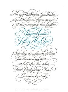 Script/Weddings on Typography Served