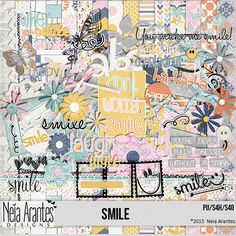 Smile kit by Neia Arantes Designs http://store.digiscrappersbrasil.com.br/s4h-and-pu-c-1_173_437/smile-p-9155.html