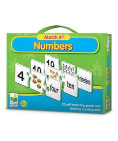 Take a look at this Match It! Numbers Puzzle Game by The Learning Journey on #zulily today!