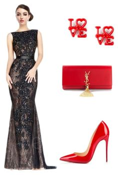 """awesome collection"" by cocomelodydress ❤ liked on Polyvore featuring Yves Saint Laurent and Christian Louboutin"
