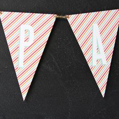 Bunting Flags Red www.lovevsdesign.com
