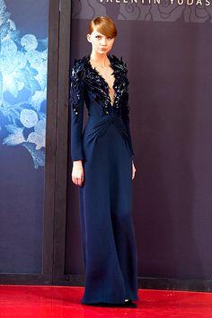 Western Gown, Valentin Yudashkin, I Feel Pretty, Aqua Marine, Runway Fashion, Blues, Design Inspiration, Gowns, Turquoise