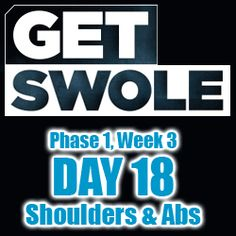 MusclePharm Get Swole Workout Review – Phase 1, Day 18 – Shoulders