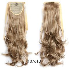 Ponytail Hair Extension Piece Wavy Tie On Long Sexy Synthetic Best Quality Ponytail Hair Piece, Wavy Ponytail, Ponytail Hair Extensions, Ombre Hair Extensions, Ponytail Hairstyles, Long Hair Wigs, Drawstring Ponytail, Queen Hair, Blonde Color