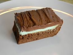 BYU Mint Brownies  BYU is Loved at www.MormonFavorites.com