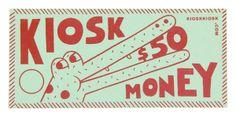 Andy Rementer. Riso-printed $50 money design for Kiosk.