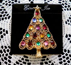 EISENBERG ICE Vintage Jeweled Golden Swag Brooch by JoolsForYou SOLD OUT Thank You!
