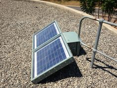 Fitted with the for monitoring water levels and flow Solar Panels, Flow, Remote, Cabinet, Water, Sun Panels, Clothes Stand, Gripe Water, Solar Power Panels