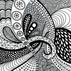 patterns drawing zentangle coloring easy doodle zentangles pattern cool simple doodles drawings lines beginners printable kid sada dibujos muster zen