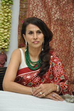 Shobha De - the jewellery on patola saree looks rocking