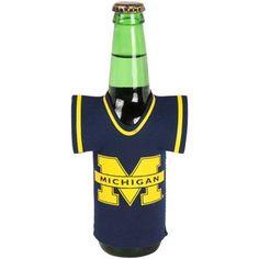 Michigan Wolverines Bottle Jersey Koozie - Navy Blue  #UltimateTailgate #Fanatics