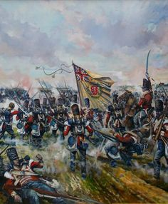 Advance of the British infantry at Waterloo