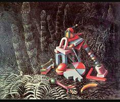 169. Alberto Savinio, Nella foresta 1928 m 0,65x0,81 tela Milano Collezione privata