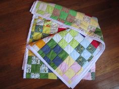 How to quilt - excellent tutorial for a 9 square quilt