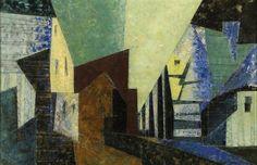 Lyonel Feininger, Village on ArtStack #lyonel-feininger #art