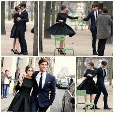 hmm, dance shots engagement photos?  Good way to put our dance lessons to use!  Love her dress too!  LBD are so elegant :-)
