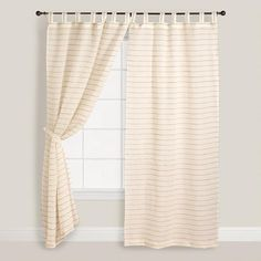 One of my favorite discoveries at WorldMarket.com: Ivory Jute Striped Sahaj Curtains
