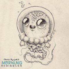 Jelly Astronaut critter. #morningscribbles | Flickr - Photo Sharing!