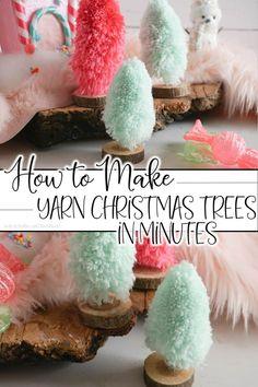 Merry & Bright Christmas - How to Make Yarn Christmas Trees