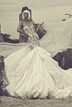 julia kontogruni 2015 wedding dress heavily embellished front view
