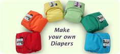 Cloth diaper fabrics, notions, patterns- everything to make your own cloth diapers.