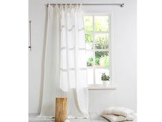 White Linen Curtain-Linen Curtain with by LinenHomeDecor on Etsy