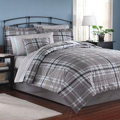 grey plaid bedding - Bing Images
