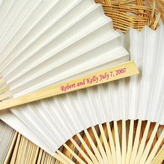 Personalized Paper Hand Fans by Beau-coup
