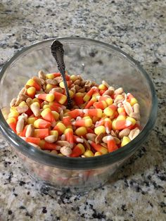 The official candy of fall! Candy corn and peanuts mixed together it taste like a payday in a jar!