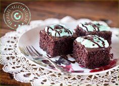 Schoko-Minz-Brownies (already vegan!) Nice Brownie Recipe