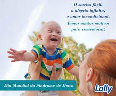 Dia mundial da síndrome de Down Hoje, 21 de março, fica aqui o nosso desejo por um mundo com menos preconceito e, acima de tudo, com a pureza e a amabilidade que eles carregam em seu olhar. O amor não conta cromossomos!