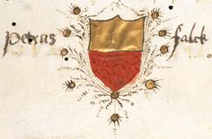 A coat of arms in the bottom margin, perhaps that of Guiniforte Zazzi, Pavia professor of law; on the sides of the coat of arms can be read the name of Petrus Falck (f°1r). -- «Plutarchus», Italy, Third quarter of the 15th century (Fribourg / Freiburg, Bibliothèque cantonale et universitaire / Kantons- und Universitätsbibliothek, Cap. Rés. 527).